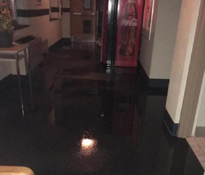 Coolant Flooded Hallway in West York, PA Before