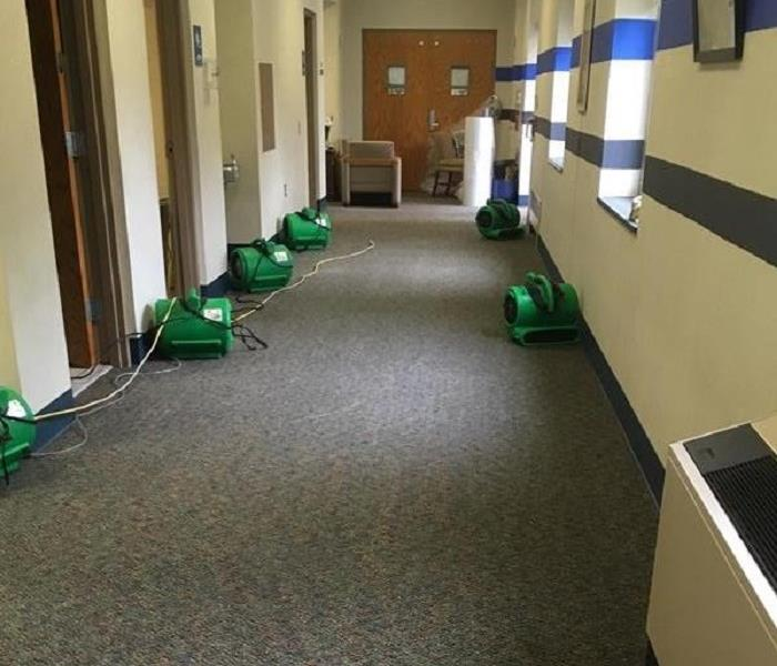 Coolant Flooded Hallway in West York, PA After
