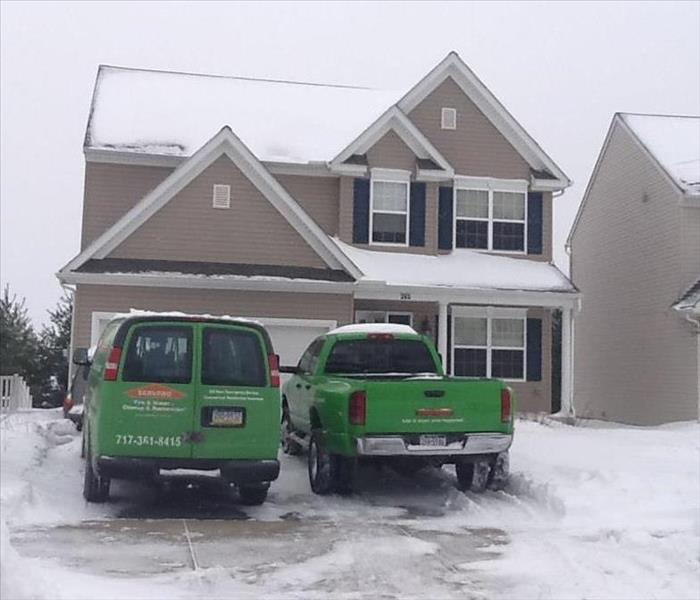 In the middle of a storm, SERVPRO is there!